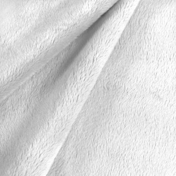 Minky cuddle fleece off White width 150cm (per meter)
