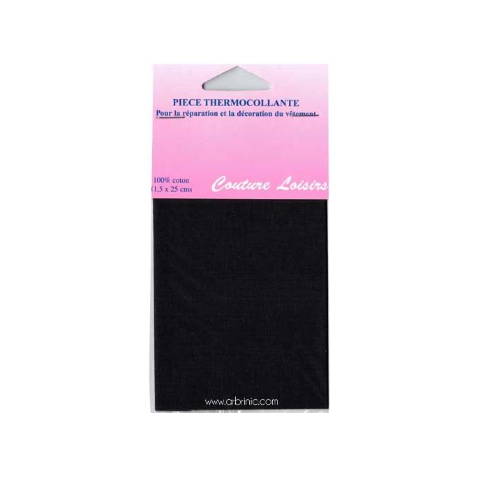 Pièce thermocollante - Percale coton Noir