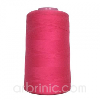Polyester Serger and sewing Thread Cone (4573m) Raspberry Pink