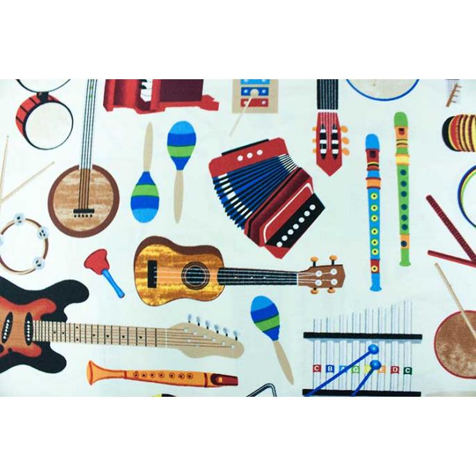 Coton imprimé Musique Timeless Treasures par 10cm
