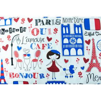 Coton imprimé Paris Timeless Treasures par 10cm