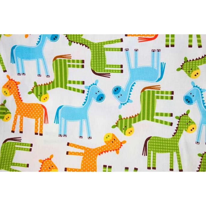 PUL cotton - Horses (50x55)