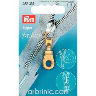 Zip puller Gold Eye PRYM