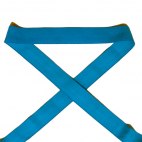 Biais élastique 2.5cm Bleu Aqua (1m)