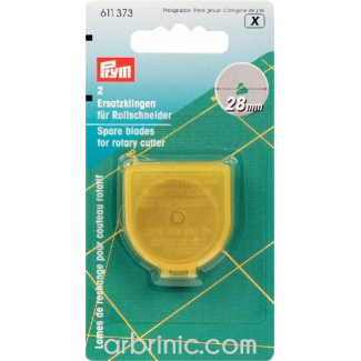 Spare Blades for PRYM rotary cutters 28mm (x2)