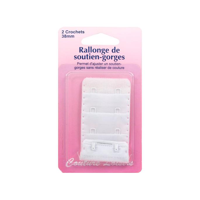 Rallonge Soutien-gorge 38mm 2 crochets - Blanc