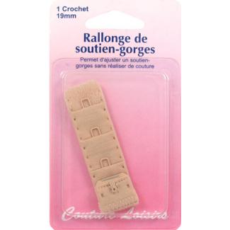 Rallonge Soutien-gorge 19mm 1 crochet - Chair