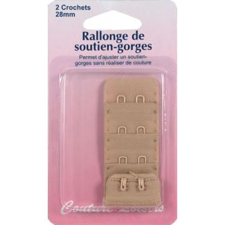Rallonge Soutien-gorge 28mm 2 crochets - Chair