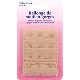 Rallonge Soutien-gorge 50mm 3 crochets - Chair