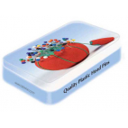 Berry Pins 34mm in reusable collectable tin (x200)