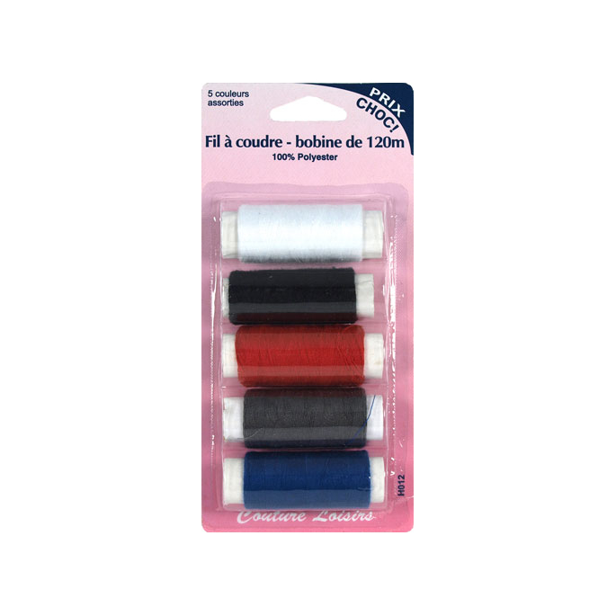 Polyester Sewing Thread 5 colors (5x120m)