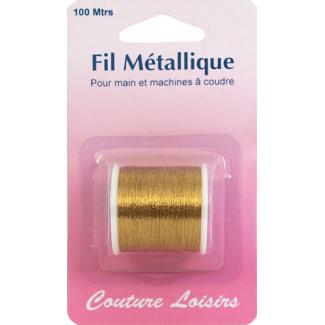 Metallic Sewing Thread Gold (100m)