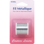 Metallic Sewing Thread Silver (100m)