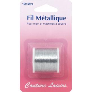Metallic Sewing Thread Silver (100m)