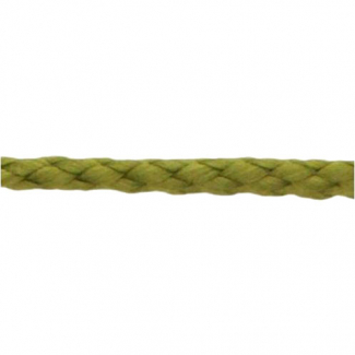 Cordon Anorak tresse plate 5mm Kaki (bobine 50m)