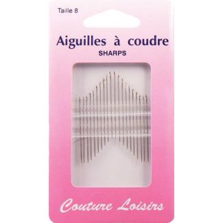 Aiguilles à coudre - Fines et longues Taille 8 (x20)