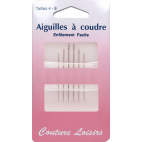 Easy Threading Needles Sizes 4-8 (x6)