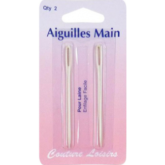 Hand Needles for Wool and Yarns (x2)