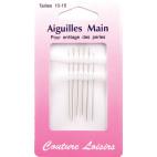 Aiguilles pour enfilage de perles Taille 10-15 (x6)