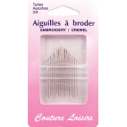 Embroidery Crewel Needles Size 3-9 (x20)