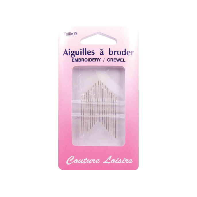 Embroidery Crewel Needles Size 9 (x20)