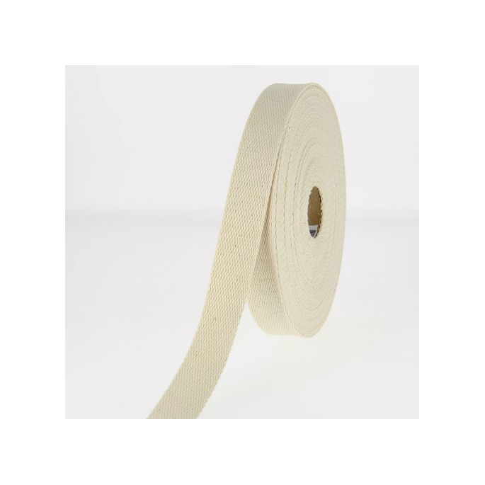 Sangle coton 30mm Ecru (bobine 15m)