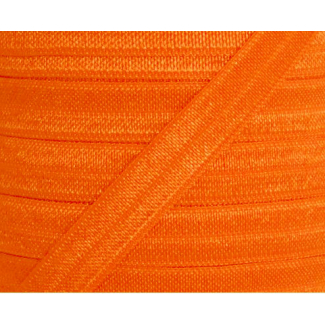 Biais élastique lingerie Oekotex 15mm orange (bobine 25m)
