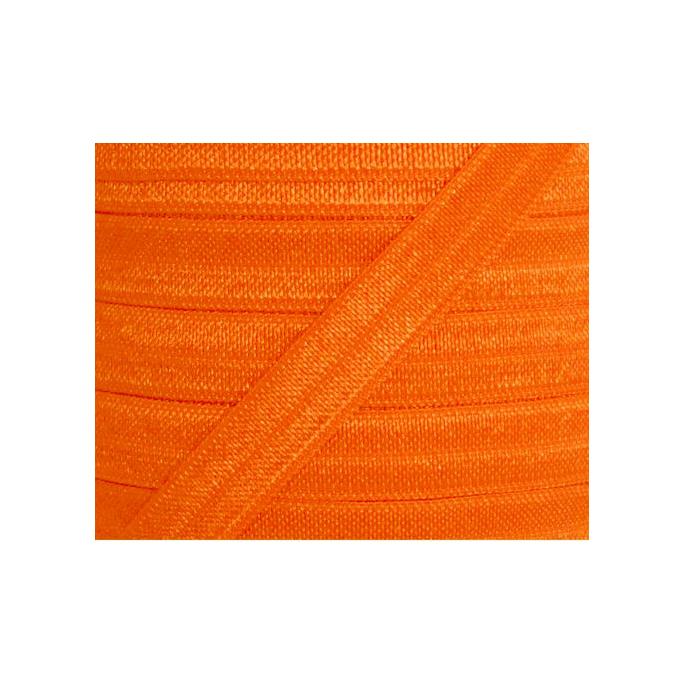 Shinny Fold Over Elastic Oekotex 15mm Orange (25m bobin)