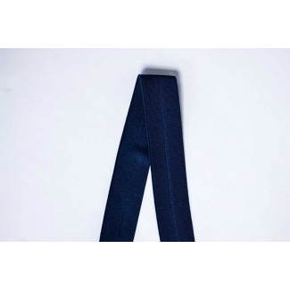 Biais élastique 2.5cm Bleu marine (1m)