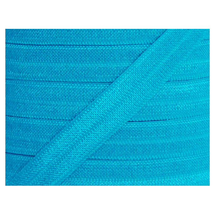 Shinny Fold Over Elastic Oekotex 15mm Turquoise (25m bobin)