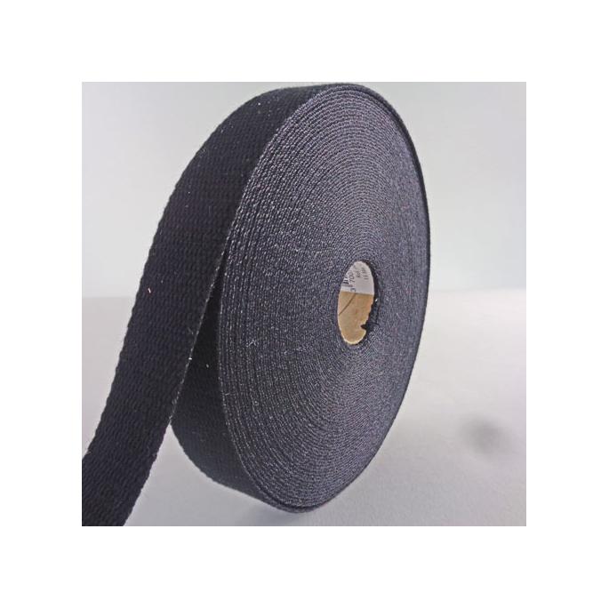 Sangle coton 30mm Noir (au mètre)