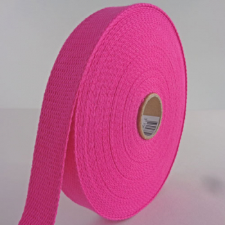 Cotton Webbing 23mm Pink (15m roll)