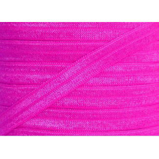 Biais élastique lingerie Oekotex 15mm rose fushia (bobine 25m)