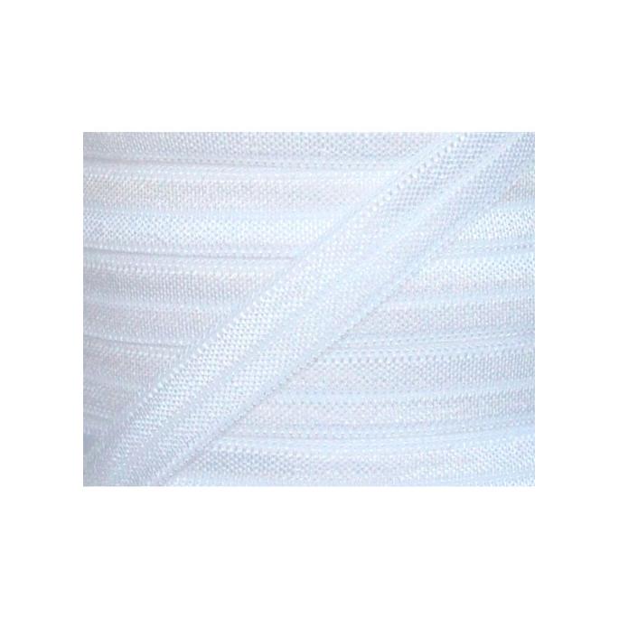 Shinny Fold Over Elastic Oekotex 15mm White (25m bobin)