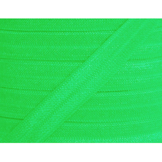 Shinny Fold Over Elastic Oekotex 15mm Apple Green (by meter)