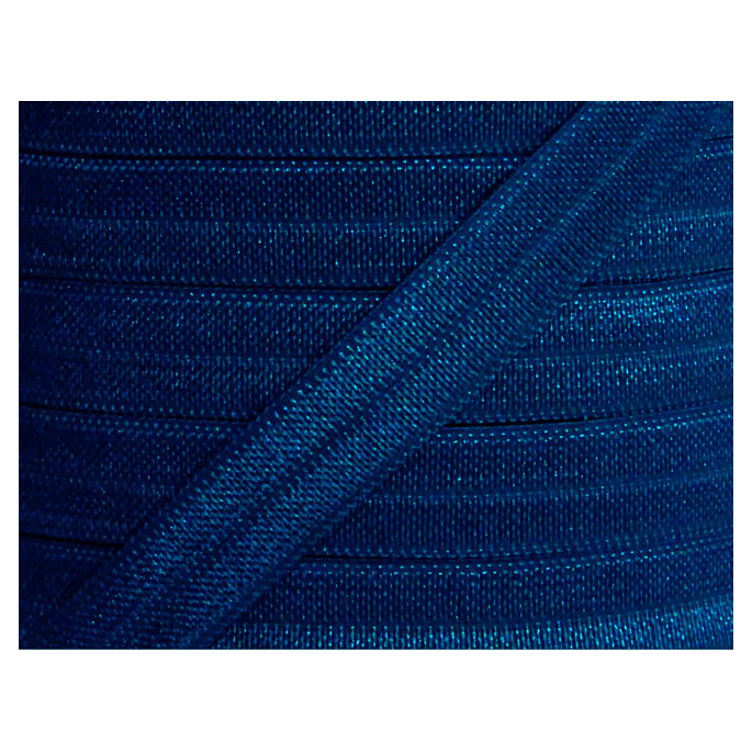 Shinny Fold Over Elastic Oekotex 15mm Navy blue (25m bobin)
