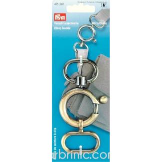 Boucle pour sangle ou ceinture Laiton Antique 35x105mm
