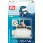 Boucles de salopette avec bouton PRYM métal 40mm Argent (x2)