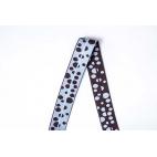 Biais élastique 2.5cm Print Dots Blue & Brown (1m)