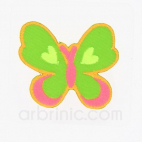 Iron-on Embroidery Patch Butterfly