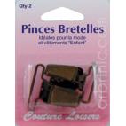 Pince pour bretelles couleur bronze (x2)