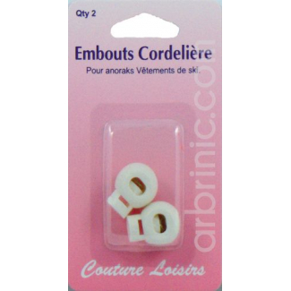 Ajustable Cord toggles White (x2)