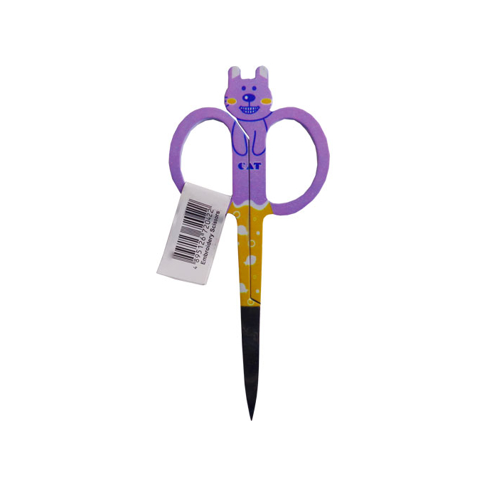 Cat Embroidery scissors Purple