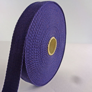 Cotton Webbing 23mm Dark Blue (15m roll)