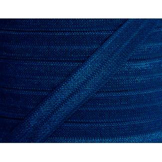 Shinny Fold Over Elastic Oekotex 15mm Navy blue (by meter)
