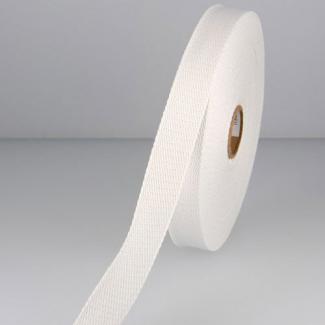 Sangle coton 30mm Blanc (bobine 15m)