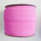 Biais élastique 2.5cm Rose Bubblegum (Bobine 100m)