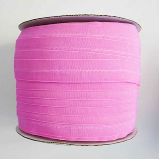 Fold Over Elastic 1 inch Bubblegum Pink (100m roll)