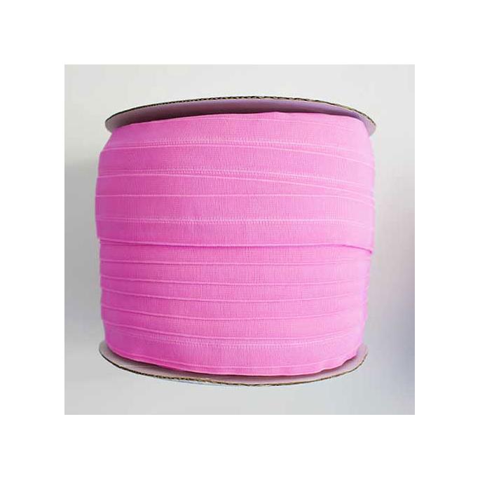 Biais élastique 2.5cm Rose bubblegum (1m)