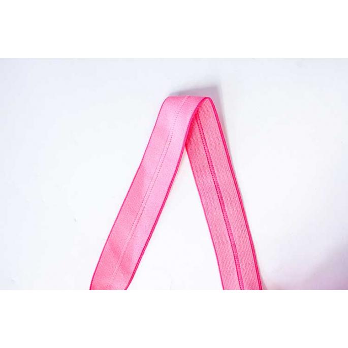 Biais élastique 2.5cm Neon pink(1m)